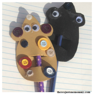 mouse craft -- cute mouse pencil topper, perfect craft for Library Mouse book