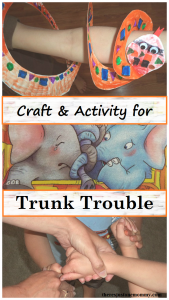 craft and activity to go with the book Trunk Trouble -- paper plate snake craft