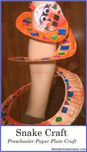 simple snake craft for preschool