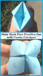 Make math fact practice fun with a cootie catcher