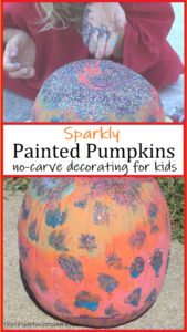 how to make a sparkly pumpkin with glitter
