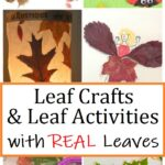 crafts with real leaves