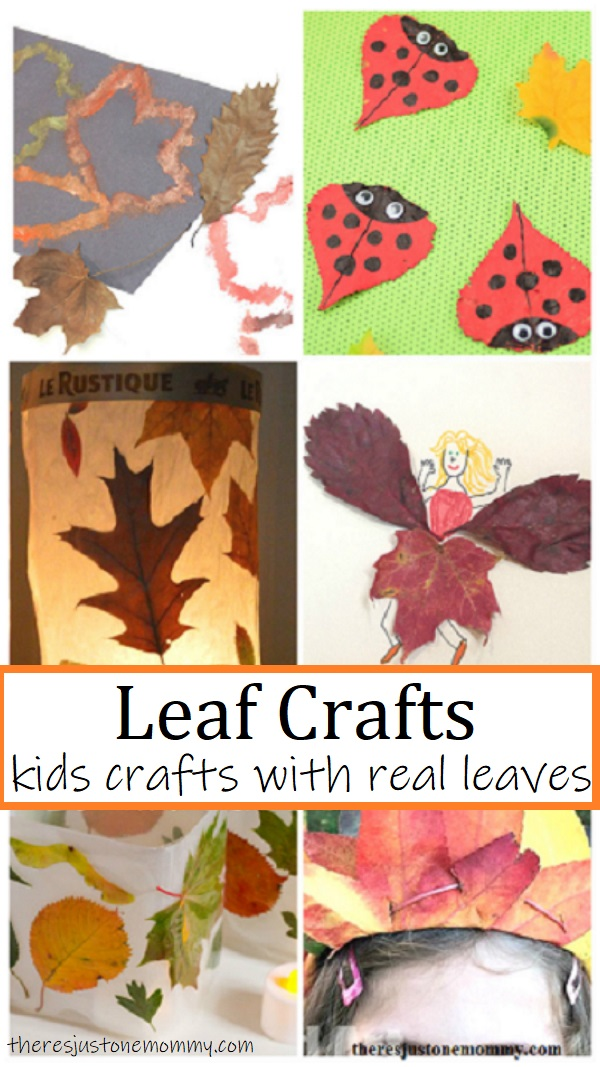 fall crafts using real leaves