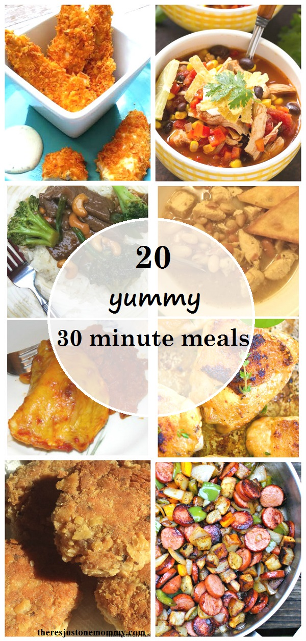 30 minute dinner ideas there 39 s just one mommy for Quick and delicious dinner recipes