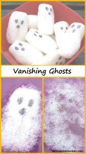Vanishing Ghosts -- simple kids Halloween science experiment