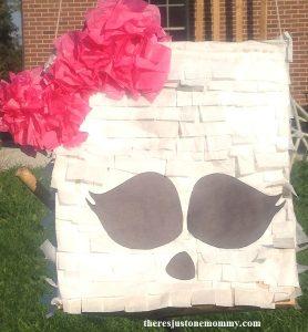 DIY Monster High pinata -- paper bag pinata tutorial