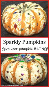 sparkly painted pumpkins
