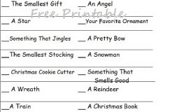Printable Christmas Scavenger Hunt
