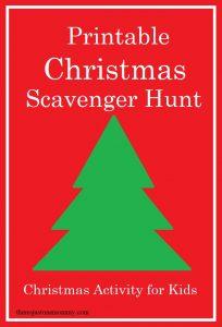 kids scavenger hunt for Christmas