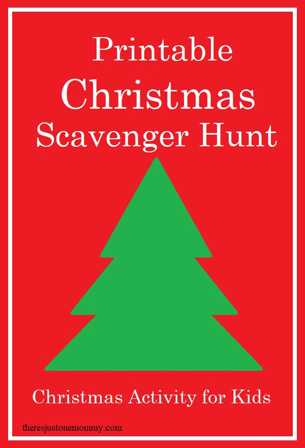 kids scavenger hunt for Christmas