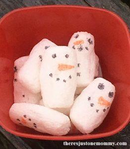 kids snowman activity
