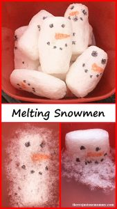 Melting Snowmen STEM Activity