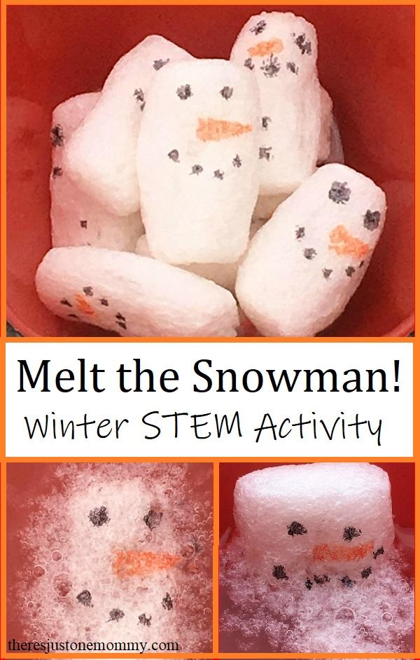 snowman STEM activity