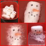 melting snowmen winter STEM activity using packing peanuts