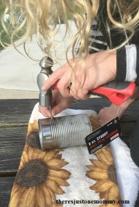how to make a tin can lantern -- perfect kids craft for colonial America unit