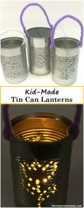 Recycled Craft: simple how to make a tin can lantern, perfect for a colonial America craft for kids