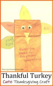 Thanksgiving turkey paper bag craft