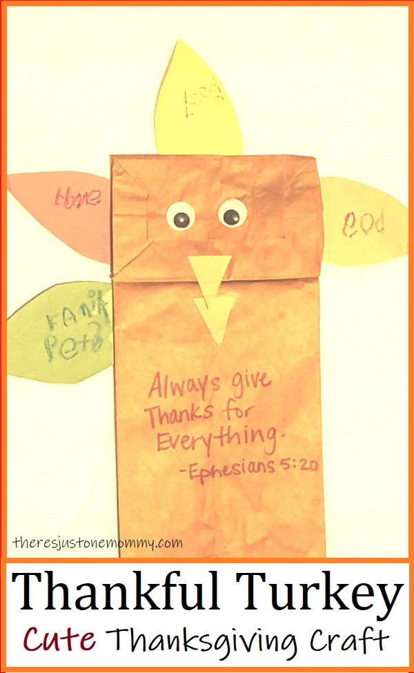 Thanksgiving turkey paper bag craft