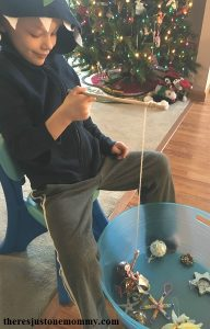 Candy Cane Fishing -- simple kids Christmas activity