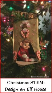 Christmas STEM activity: build a house for your elf on a shelf