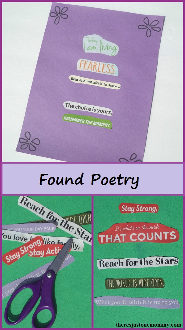 Found Poetry for Kids -- great way to motivate reluctant writers