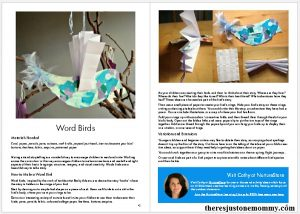 sample pages from Make Your Mark ebook -- with 30+ projects to promote writing skills