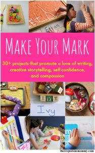 30+ Projects to Promote the Love of Writing:  Make Your Mark!