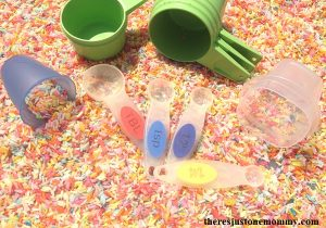 hands-on math activity for measuring volume