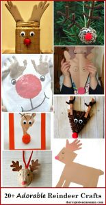 20+ Adorable Reindeer Crafts: including reindeer ornaments, preschool reindeer crafts, kids reindeer crafts