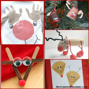 20+ reindeer crafts: cute kids reindeer crafts for Christmas