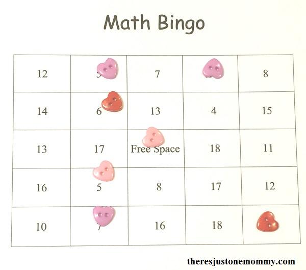 free printable math fact bingo -- make addition math fact practice more fun!