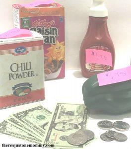Pretend Play activity to work on money skills -- fun elementary math activity