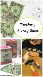 teaching money skills with pretend play -- simple math activity