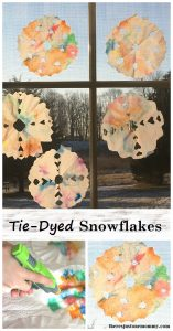 Tie-Dyed Snowflake Craft