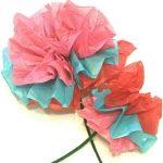 Kids' Tissue Paper Flower Craft