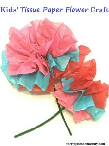 How to make a Tissue Paper Flower -- simple flower craft for kids