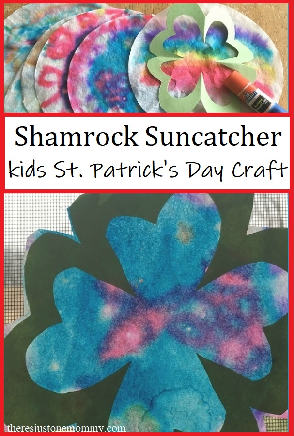 colorful shamrock craft for St. Patrick's Day