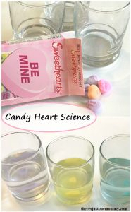 Valentine's Science: dissolving conversation heart science experiment
