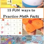 fun ways to practice math facts -- 15 ways to make practicing math facts more fun (math fact game,addition math facts,subtraction math facts,multiplication math facts, division math facts)