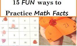 15 Fun Ways to Practice Math Facts