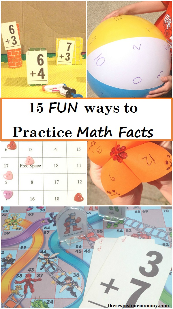Fun Ways to Practice Math Facts | There\'s Just One Mommy