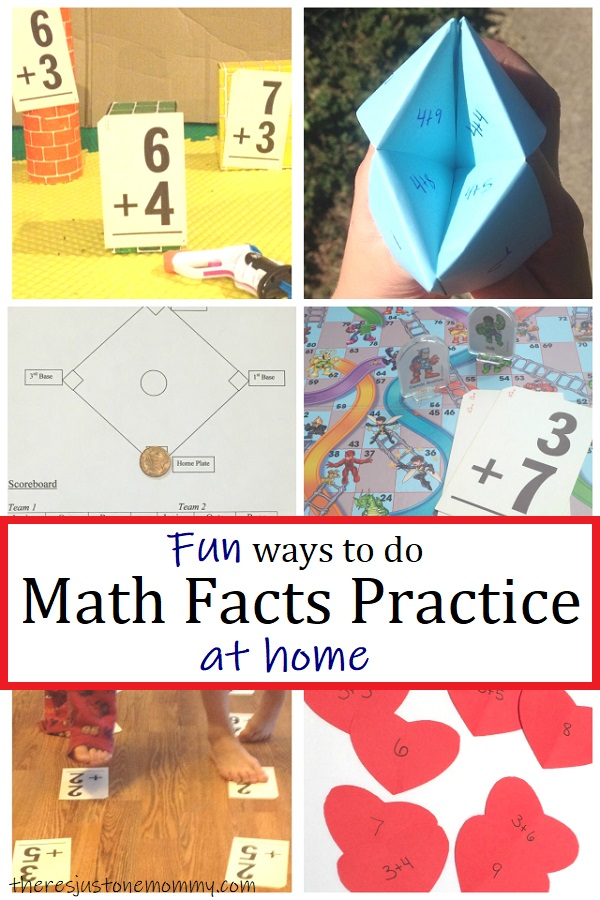 fun ideas for how to help your child practice math facts at home