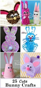 25 Cute Bunny Crafts to share after the St. Patrick's Day crafts