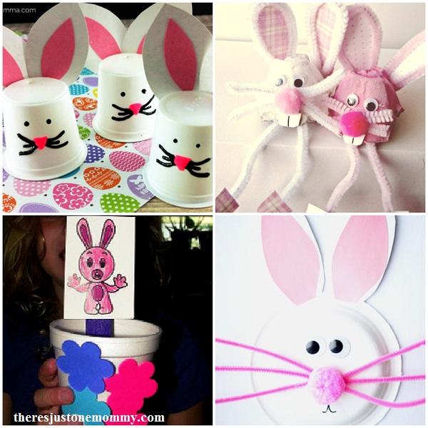kids bunny crafts: 25 adorable bunny crafts for spring; kids Easter crafts; rabbit crafts