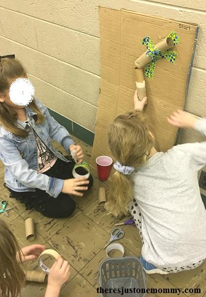 kids marble run STEM activity