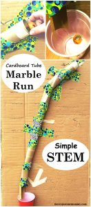 Create a Cardboard Tube Marble Run