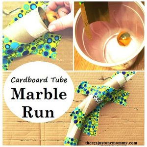 build a cardboard tube marble run