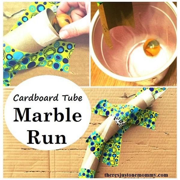 build a cardboard tube marble run