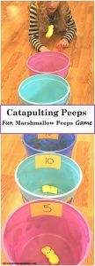 Fun Catapulting Marshmallow Peeps Game