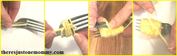 pom pom chick tutorial -- directions for making a pom pom chick
